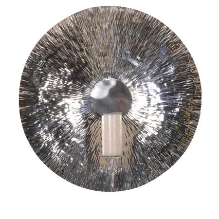 Huge Stainless Steel Disc Wall Sconce / Art
