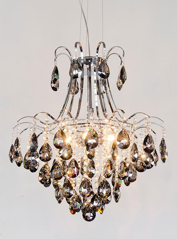 6 bulb chrome smoked glass chandelier mulberry moon 6 bulb chrome smoked glass chandelier mozeypictures Choice Image