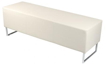 Contemporary Cream Block Style Dining Room Bench