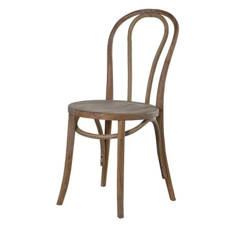 Solid Wood Oak Round Dining Room Chair