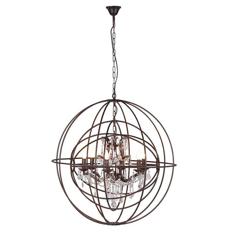 Metal Sphere Chandelier Ceiling Light Lighting Mulberry