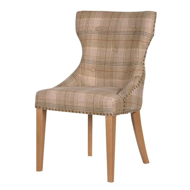 Huntroyd Studded Tartan Dining Chair Sets