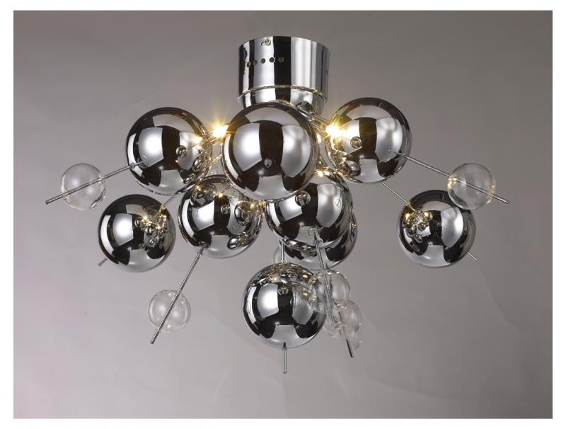 Contemporary 6 light chrome glass ball chandelier mulberry moon contemporary 6 light chrome glass ball chandelier mozeypictures Choice Image