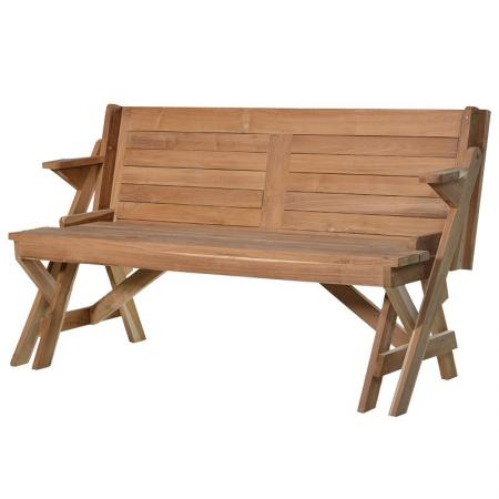 Teak Combination Bench / Table / Patio Table