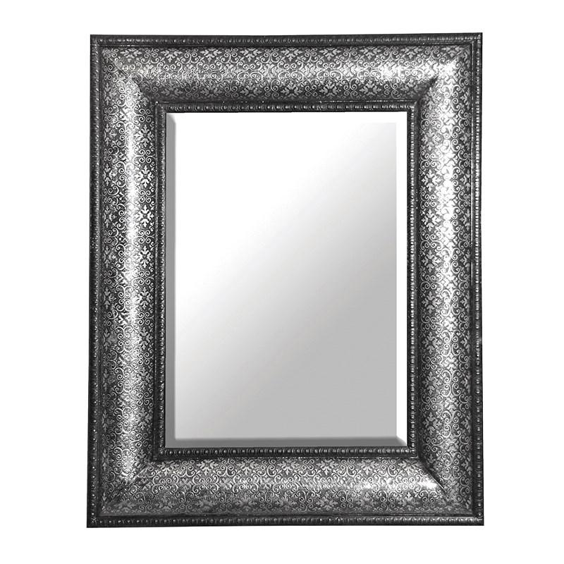 Antique Silver Embossed Large Rectangle Wall Mirror ...