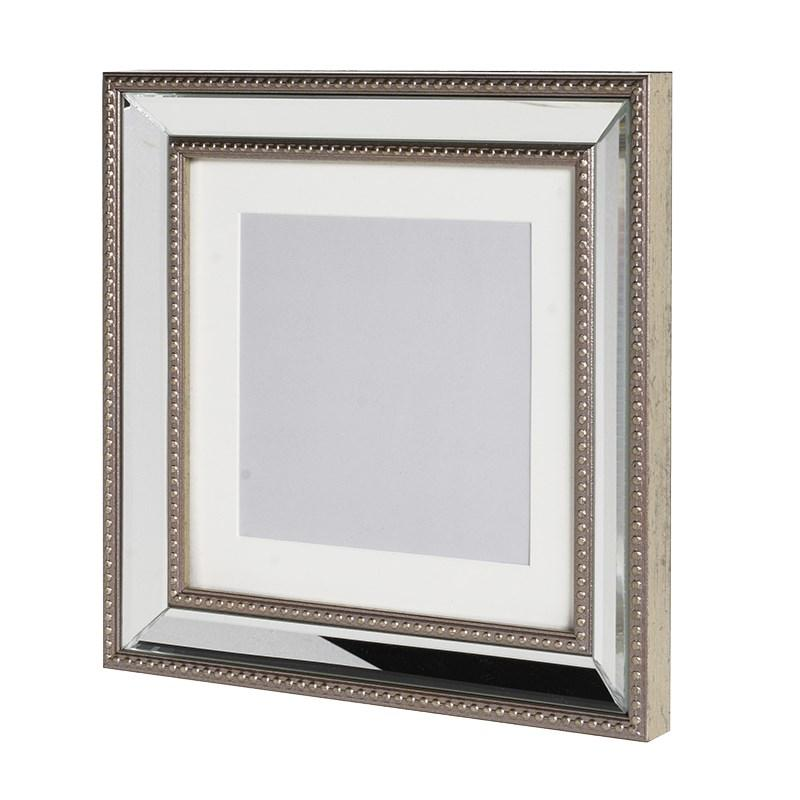 Square Elegant Silver Mirrored Photo Frame Mulberry Moon
