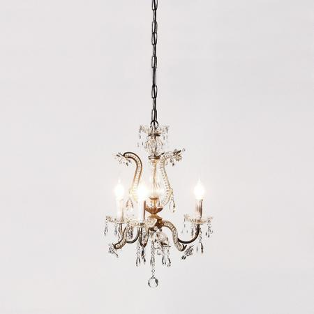 French Style Metal /Glass Drops Chandelier