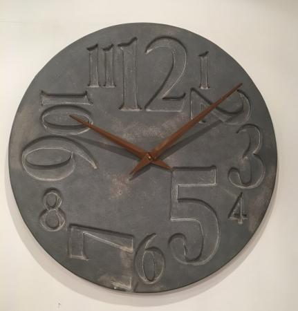 Large Round Slate Effect Numbers Wall Clock