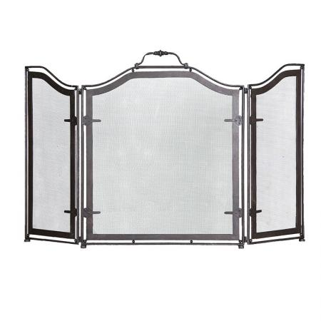 3 Panel Iron Fire Screen / Fire Guard