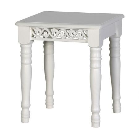 Belgravia White Wooden Dressing Table Stool