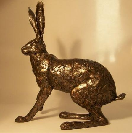 Paul Jenkins Running Startled Hare Sculpture / Frith Sculptures
