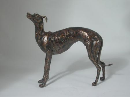 Frith Sculptures by Paul Jenkins Standing Greyhound Sculpture