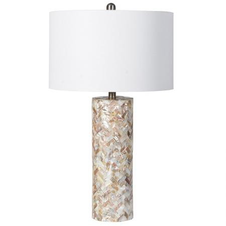 Tall Mother of Pearl Shell Table Lamp