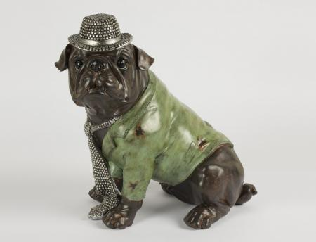 Quirky Dressed Bulldog Sculpture
