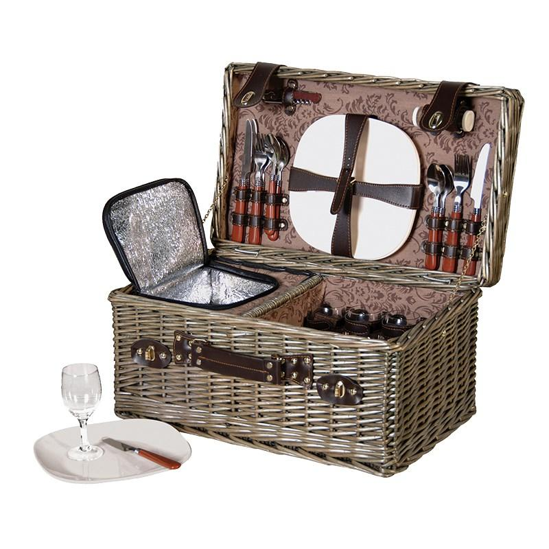 Myer wicker picnic basket : Large wicker picnic basket wine cooler servings