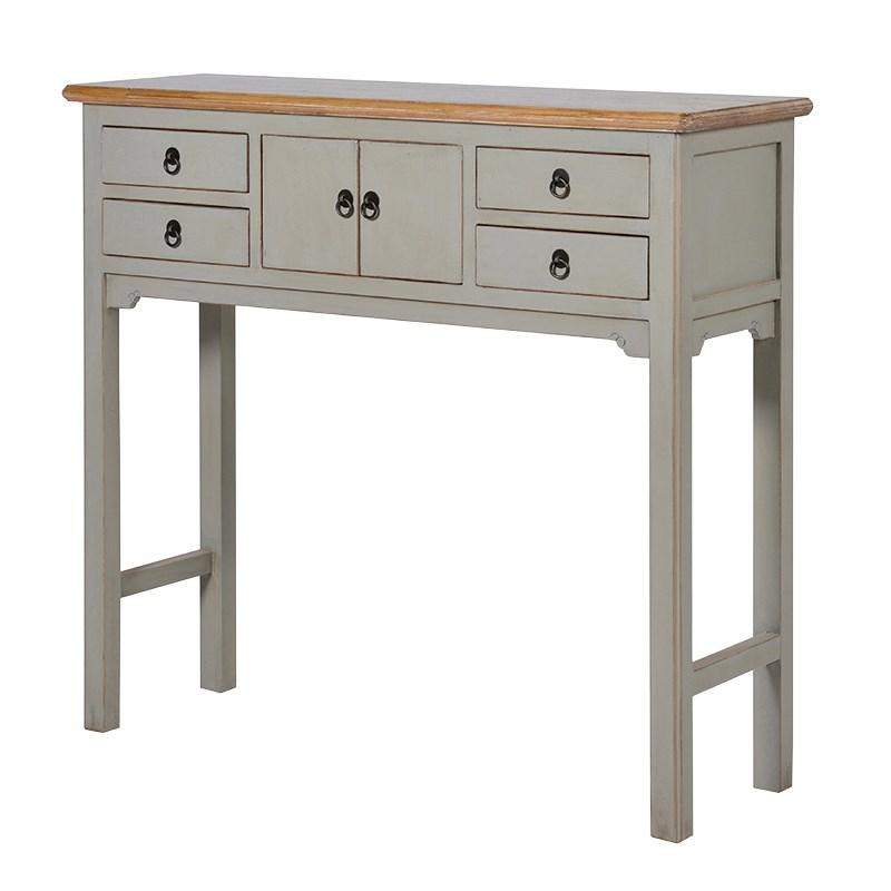 Light grey painted hampshire hall table console table for Painted foyer tables