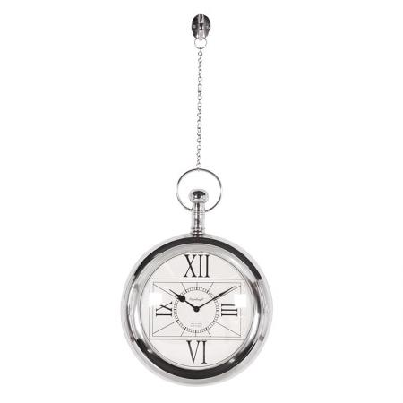 Edinburgh Chrome Fob Watch  Wall Clock