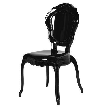 Black High Gloss Perspex Dining Chair