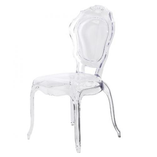 clear transparent perspex dining chair mulberry moon