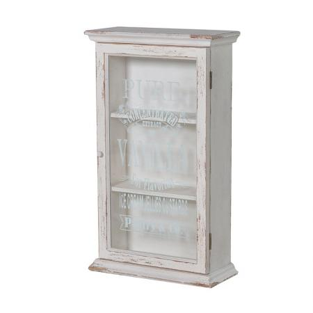 Cream Glazed Vanilla Script Wall Cabinet / Unit