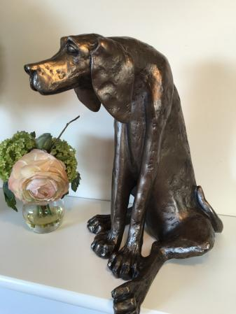 Sidney Bronze Dog Sculpture by Paul Jenkins
