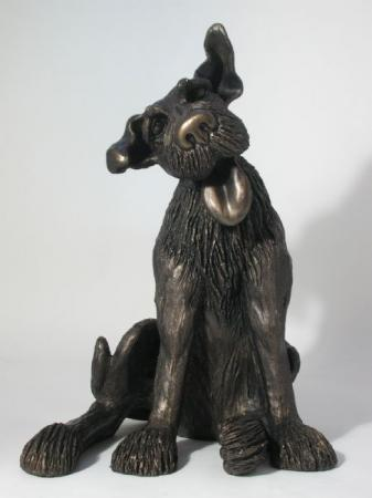 Clyde Bronze Dog Sculpture by Harriet Dunn