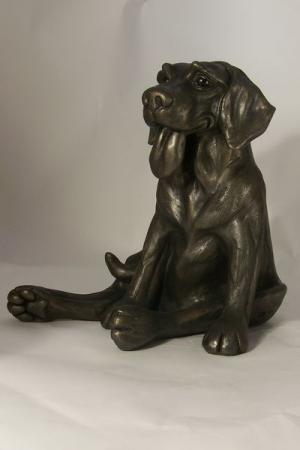 Truffle Bronze Dog Sculpture by Harriet Dunn