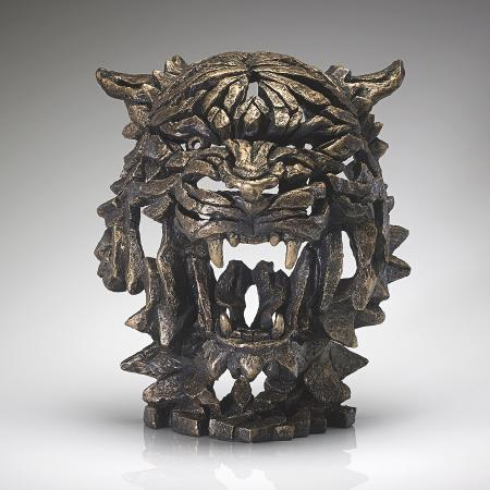 EDGE Sculpture - Golden - Tiger Bust