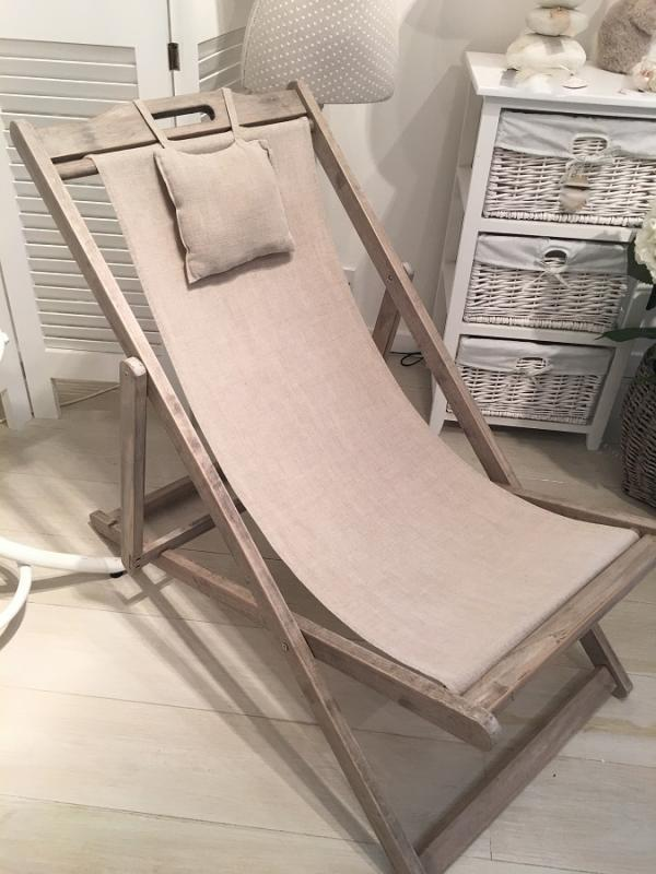 Elegant Classic Wooden Deck Chair / Garden Furniture