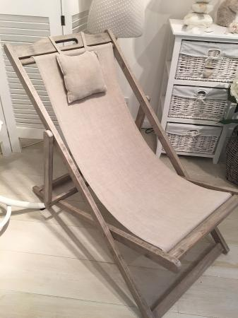 Classic Wooden Deck Chair / Garden Furniture