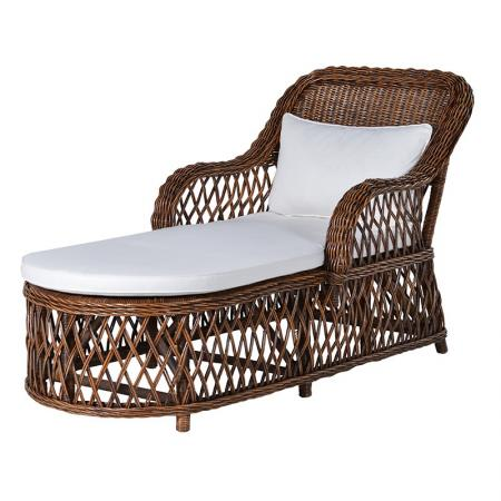 Brown Lounger With Cushion / Garden Furniture