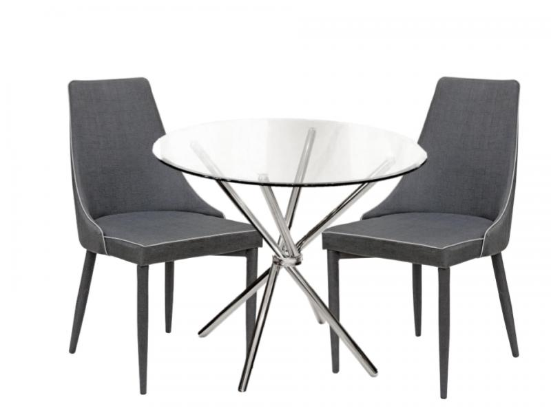 Crossed Glass Dining Table Set 4 Light Grey Fabric  : lgcrossed glass dining table set 4 light grey fabric chairs3 from www.mulberry-moon.co.uk size 800 x 600 jpeg 31kB