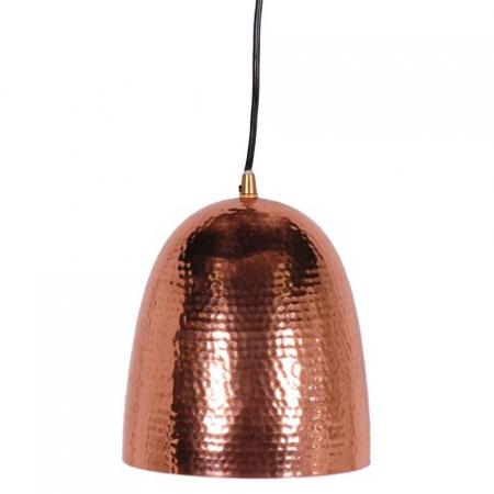 Contemporary Hammered Copper Pendant / Light