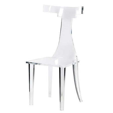 Contemporary Funky Shaped Acrylic Chair