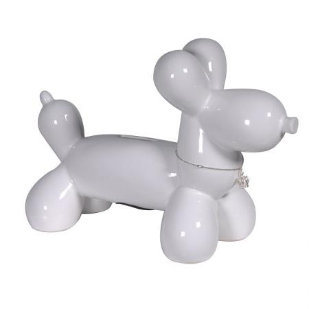 White Balloon Dog Money Box / Sculpture