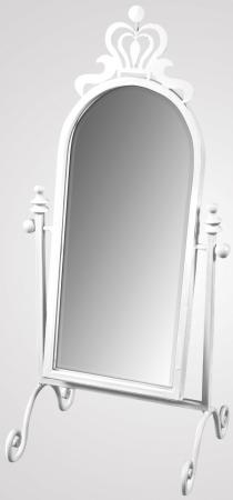Ivory Arched Swing Vanity Mirror