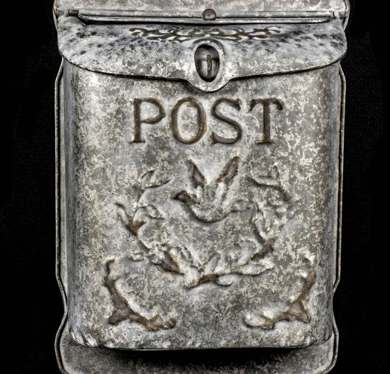 Wall Hanging Vintage Metal Post Box Mulberry Moon