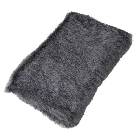 Black /Grey Furry Throw