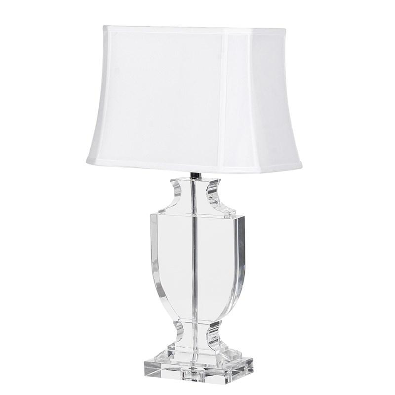 large crystal table lamp white shade mulberry moon. Black Bedroom Furniture Sets. Home Design Ideas