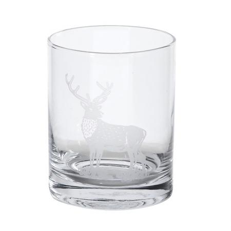 Set Of 4 Stag Glass Tumblers