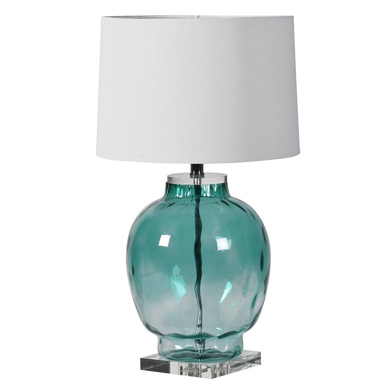 Blue green glass bubble table lamp shade mulberry moon blue green glass bubble table lamp shade aloadofball Gallery