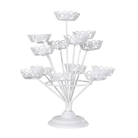 3 Tier Small White Cupcake Stand