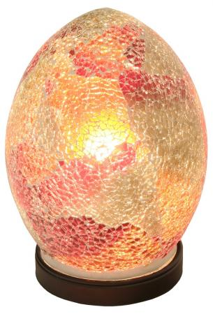 Mini Red Mosaic Egg Lamp Bedroom Light