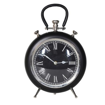 Black Fob Watch Style Mantel Clock