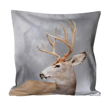 2 x Stag Head Cushion Covers