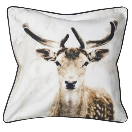 2 x Deer Head Cushion Covers
