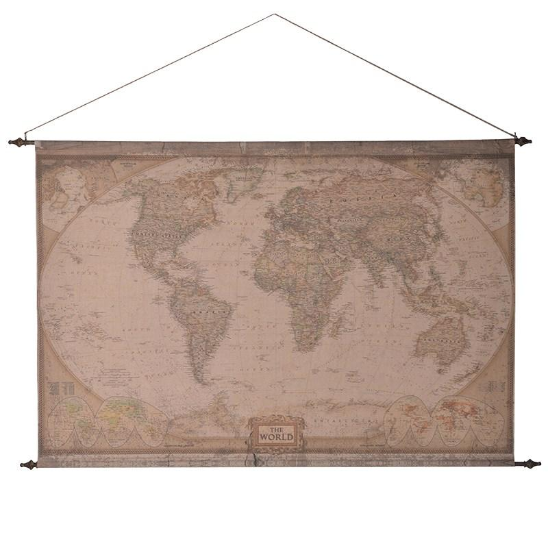 X large vintage fabric hanging world map mulberry moon x large vintage fabric hanging world map publicscrutiny Gallery