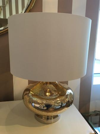 'Mercury' Gold / Silver Glass Table Lamp