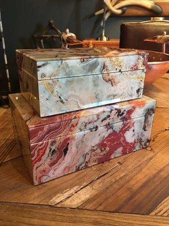 Heavy Marble Style Jewellery Box Set