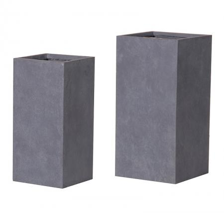 Set of 2 Modern Frost Resistant Square Planters